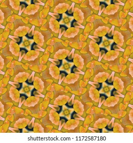Beautiful, green, white, yellow geometric pattern. Abstract design, illustration for wallpaper, fabric, print.