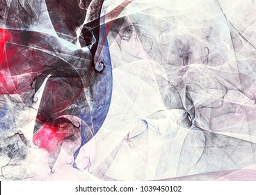 Beautiful grey painting pattern. Fantasy smoke in soft colors. Modern futuristic background with lighting effect. Fractal artwork for creative graphic design of a desktop, interior, album