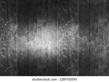 Beautiful grunge black and white tone watercolor paint. For haunted background, decoration and wallpaper in dark old rustic wood look. Cool banner on ad, page, presentation and website