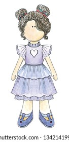 Beautiful handmade dolls are perfect for the logo of the needlewoman.