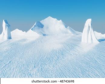 Beautiful ice landscape