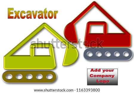 Beautiful Illustration Excavators Space Logos Advertisement