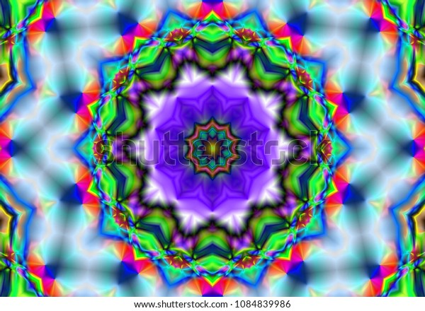 beautiful kaleidoscope, Wallpaper. Abstract texture. Traditional ethnic ornament for your design. psychedelic background.