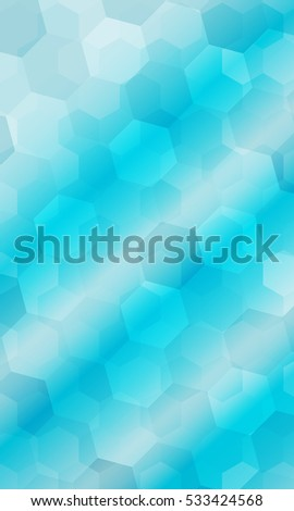 Beautiful Light Blue Color Geometry Background Stock Illustration