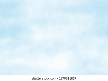 Beautiful light blue and white watercolor splatter for blue sky background, cute decoration and making cool banner on the page, presentation and website