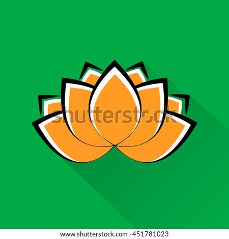 Beautiful lotus flower indian national colors stock illustration beautiful lotus flower indian national colors national symbol of india mightylinksfo