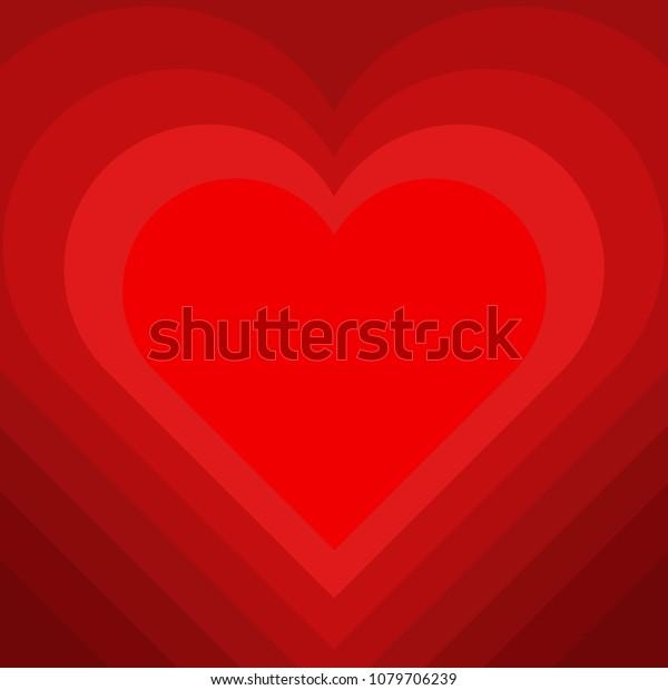 Beautiful Love Heart Symbol Background Decorative Stock