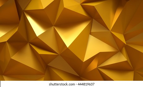 Beautiful, luxurious, elegant gold background with abstract figures. Metal, prestige, dear, precious. 3D illustration, 3D rendering.