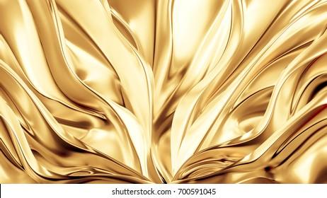 Beautiful, luxurious, luxury golden background. 3d illustration, 3d rendering.