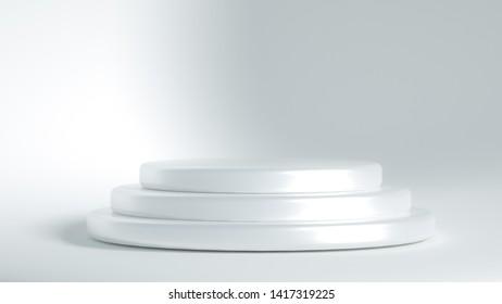 Beautiful luxury background pedestal. 3d illustration, 3d rendering.