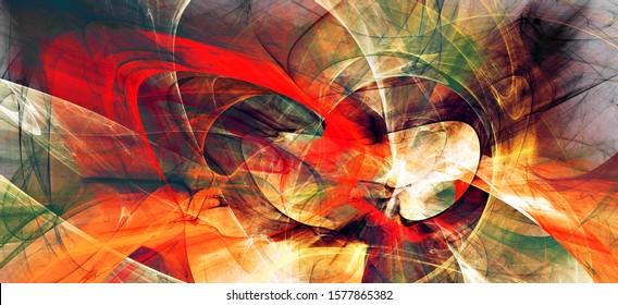 Schönes modernes Fraktal. Heller Hintergrund für kreatives Grafikdesign. Abstrakter Banner. Fractal-Kunstwerke für kreatives Grafikdesign