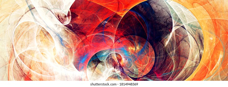 Beautiful modern fractal. Bright background  for creative graphic design. Abstract banner. Fractal artwork for creative graphic design