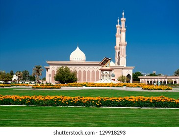 The beautiful mosque in Sharjah United Arab/The United Arab Emirates/  Sharjah