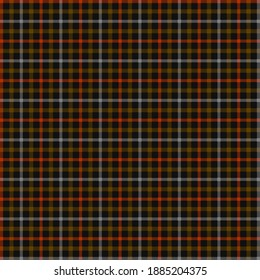 Beautiful Multicolour Pixelated Check Gingham Artwork for Fabrics. Yellow and Red Dotted Striped Work on Black Background.