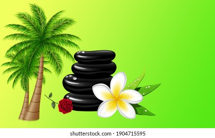 Beautiful nature background picture. 3d illustration