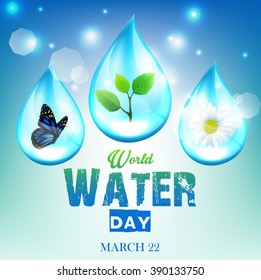 Beautiful ornament background for World Water Day