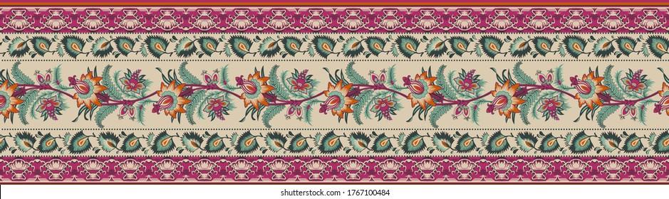 A beautiful Ornament style border design iIllustration handmade artwork