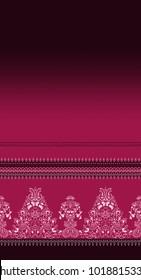 Beautiful ornate border paisley style. Seamless eastern tradition pattern design