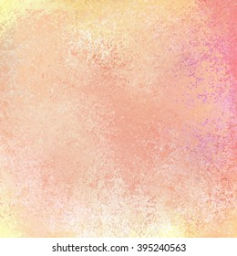 beautiful pastel background in pink peach purple orange and gold colors with white grunge texture, spring background