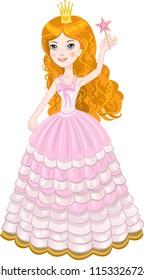 Beautiful pink fairy