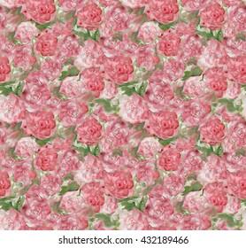 Beautiful Pink Rose Wallpaper Seamless Texture
