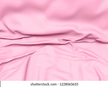 Beautiful Pink Satin Fabric for Drapery Abstract Background.