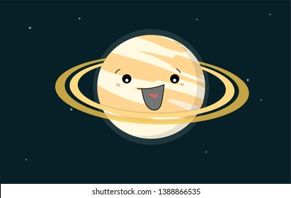 The beautiful planet, Saturn. We can see Saturn's ring by small telescope.