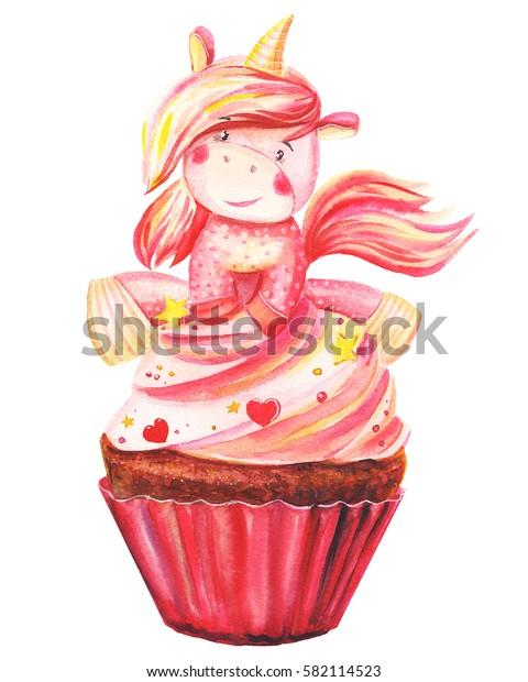 beautiful pony unicorn in Cake