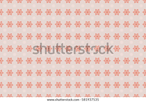 Beautiful raster snowflakes isolated on neutral background. Illustration. Snowflakes, snowfall. Falling Christmas stylized snowflakes.
