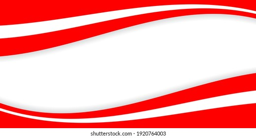 Beautiful red and white background design for background and poster decoration