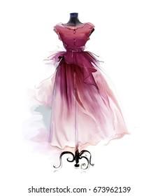 Belle robe rétro sur un mannequin