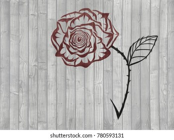 Line Drawing Of Rose Plant : Beautiful rose bouquet line drawing valentine stock illustration