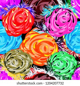 beautiful roses seamless background quality illustration for your design