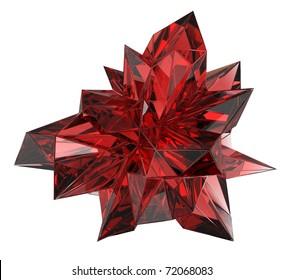 beautiful ruby crystal