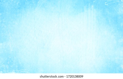 Beautiful scratched blurred gradient blue background with bright center.