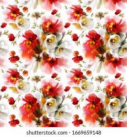 Bel motif harmonieux d'un arrangement floral.