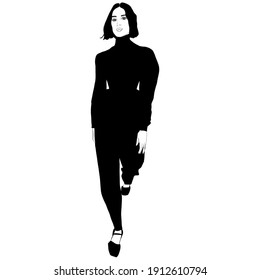 BEAUTIFUL SKETCHES OF HIGH FASHION DRESSED WOMEN