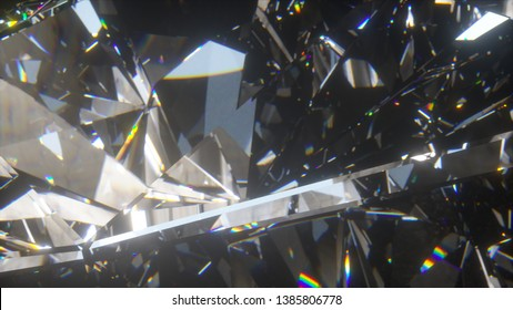 Beautiful slowly rotating diamond. 3d illustration, nice looping abstract background.