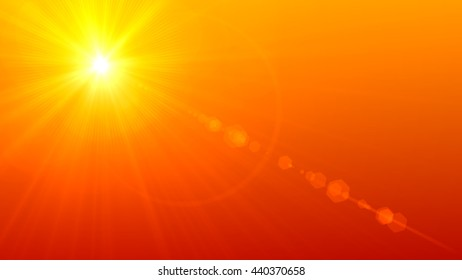 Beautiful sunset Digital Lens Flare
