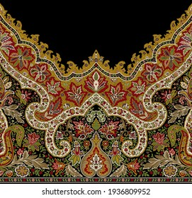 beautiful and traditional border design for print