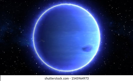 Beautiful View of Planet Neptune from Space Timelapse and Stars - Abstract Background Texture
