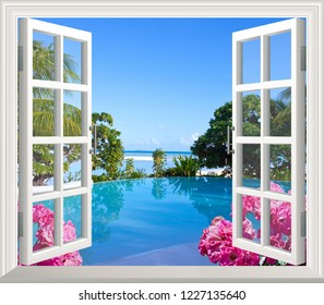 Beautiful view of sea from the window.