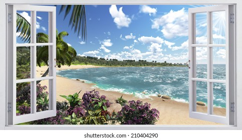 Beautiful views of the tropical island