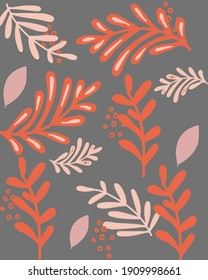 Beautiful wallpaper with the theme of autumn leaves