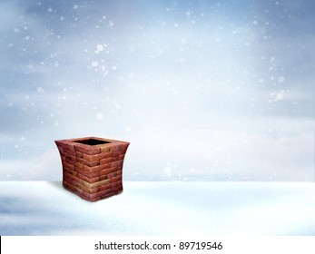 Beautiful winter background for poster/card