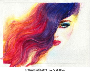 Girl+painting+rainbow Stock Illustrations, Images & Vectors ...