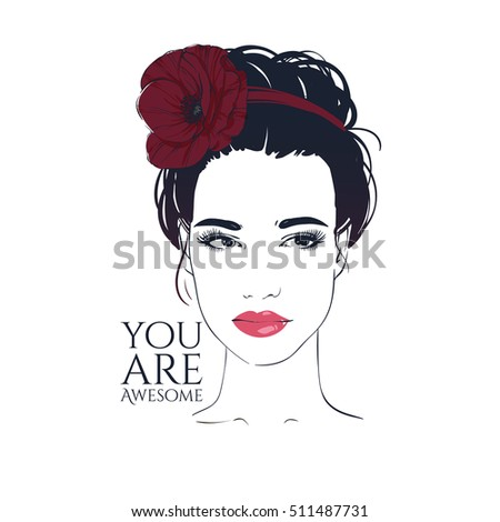 Royalty Free Stock Illustration Of Beautiful Woman Retro Hairstyle