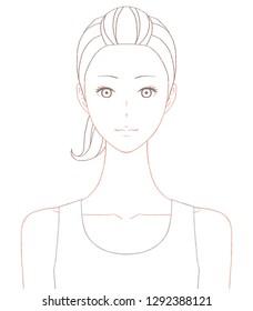 Beautiful woman's upper body