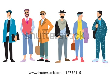 Royalty Free Stock Illustration Of Beautiful Young Mens Fashion