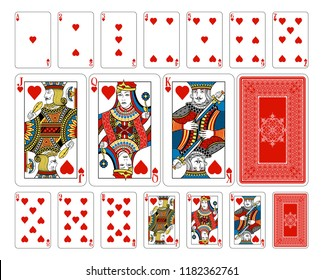 Beautifully crafted new original playing card deck design. Bridge size heart playing cards plus playing card back